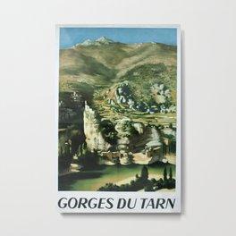 Gorges du Tarn Vintage Travel Poster Metal Print
