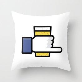 Beer Snob Throw Pillow