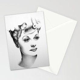 Lucille Ball Minimal Portrait Stationery Cards