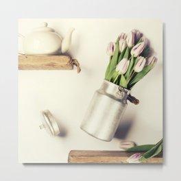 Flying pink tulips Metal Print