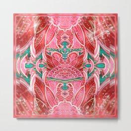 Money Manifesting Mandala Metal Print