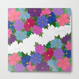 Flowers on Marble Floors  Metal Print