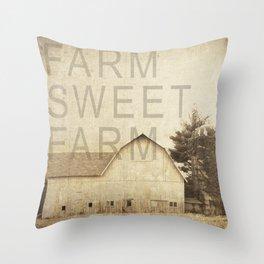 FARM SWEET FARM Throw Pillow
