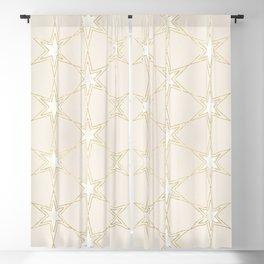 Celestial Pearl Gilded Stars Blackout Curtain