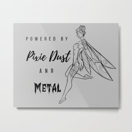 Pixie Dust & Metal Metal Print