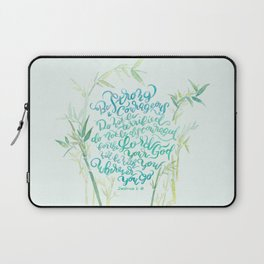Be Strong and Courageous - Joshua 1:9 - bamboo Laptop Sleeve