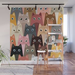 Cats Pattern Wall Mural