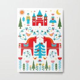 Scandinavian Inspired Fairytale - Bright Metal Print