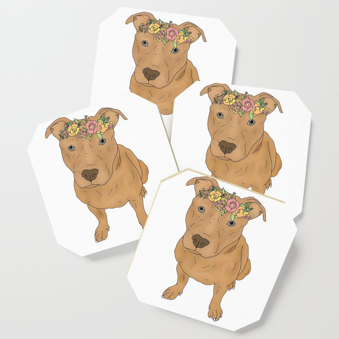 Colourful Pit Bulls, Pit Bulls Gift Coaster