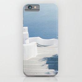 Santorini Stairs II (Landscape) iPhone Case