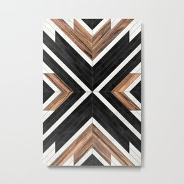 Urban Tribal Pattern No.1 - Concrete and Wood Metal Print