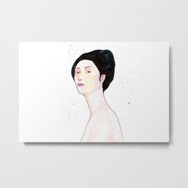 Watercolor - Portrait Metal Print