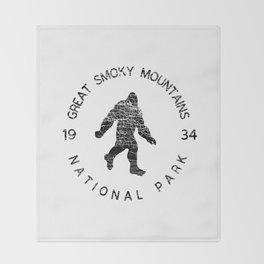 Great Smoky Mountains National Park Sasquatch Throw Blanket