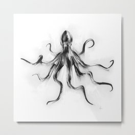 King Octopus Metal Print