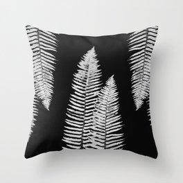 Pacific Northwest Silver Fern Forest Adventure Throw Pillow