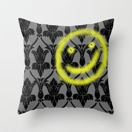 Sherlock smiling wall Throw Pillow