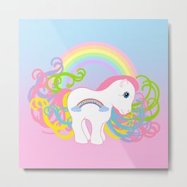 g1 my little pony Firstborn Metal Print