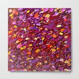 Forest Floor in Autumn Metal Print