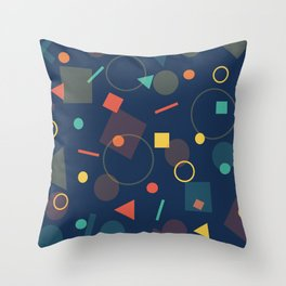 The Shapes Throw Pillow