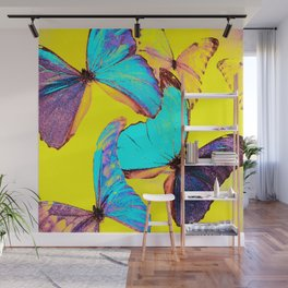 Shiny and colorful butterflies #decor #society6 #buyart Wall Mural