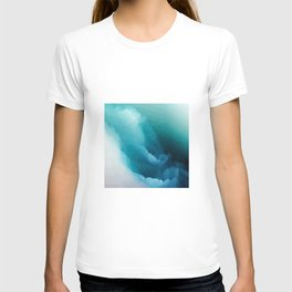 """""""Inner Calm"""" Turquoise Modern Contemporary Abstract T-shirt"""