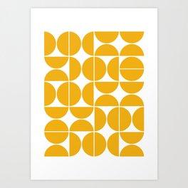 Mid Century Modern Geometric 04 Yellow Kunstdrucke