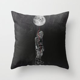 Moon Balloon 02 Throw Pillow