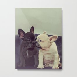 Frenchie kiss Metal Print