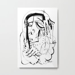 Exposed - b&w Metal Print