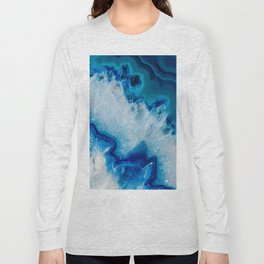 Royally Blue Agate Long Sleeve T-shirt