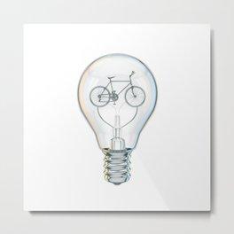 Light Bicycle Bulb Metal Print