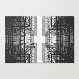 Black and White Skyscraper Canvas Print