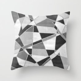 Abstract Color Block Watercolor Mosaic Throw Pillow