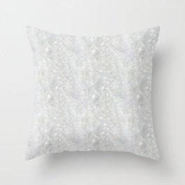 White Apophyllite Close-Up Crystal Throw Pillow