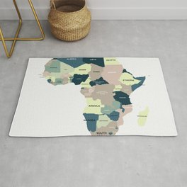 Map Of Africa Rug