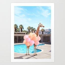 Giraffe Palm Springs Kunstdrucke