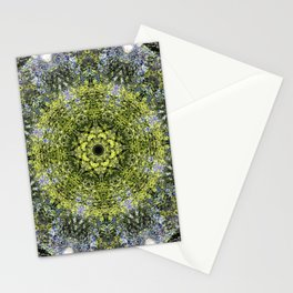 Light Shining Through a Tree Fractal Stationery Cards