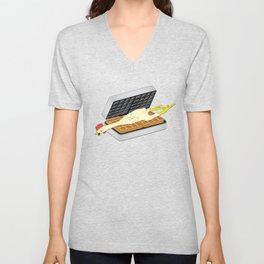 Rubber Chicken & Waffles Unisex V-Neck