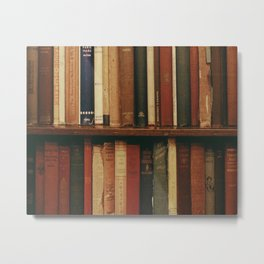shelf of books Metal Print