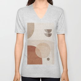 Abstract Minimal Shapes 16 Unisex V-Neck