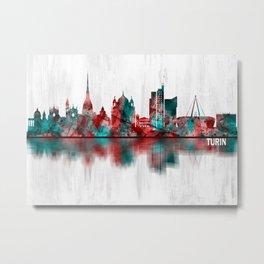 Turin Italy Skyline Metal Print
