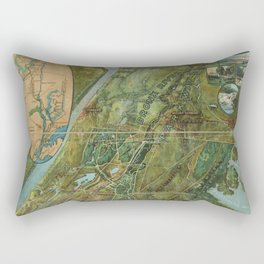 A general view of the Bronx River Parkway Reservation. Birds eye view Rectangular Pillow
