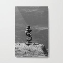 Rock balancing on the mountain Metal Print
