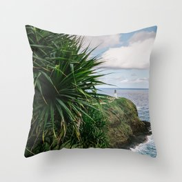 Kilauea Lighthouse Kauai Hawaii | Tropical Beach Nature Ocean Coastal Travel Photography Print Throw Pillow