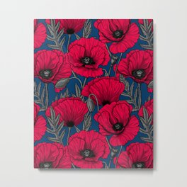 Night poppy garden  Metal Print