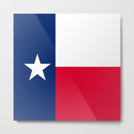 Texas State Flag Patriotic Design Metal Print