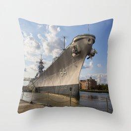 USS Wisconsin Throw Pillow