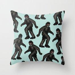 Sasquatch Sighting   Bigfoot Encounter Pattern   Wild Animals Throw Pillow