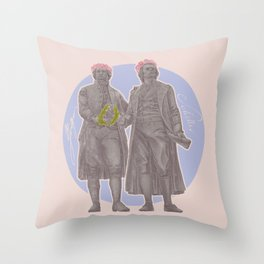 Poets and Thinkers and Flowers Throw Pillow