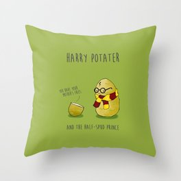 Harry Potater and the Half-Spud Prince Throw Pillow